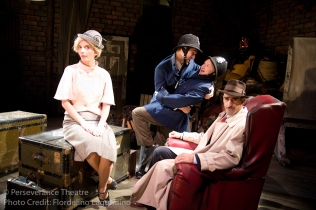 Rebecca Noon, Jed Hancock-Brainerd, Roblin Gray Davis and Aram Aghazarian in Alfred Hitchcock's The 39 Steps at Perseverance Theatre 2011