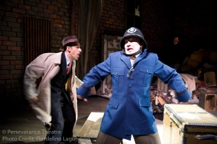 Aram Aghazarian and Roblin Gray Davis in Alfred Hitchcock's The 39 Steps at Perseverance Theatre 2011
