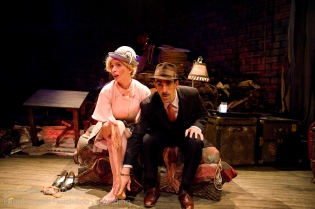 Rebecca Noon and Aram Aghazarian in Alfred Hitchcock's The 39 Steps at Perseverance Theatre 2011