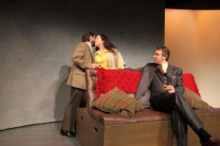 Daniel Billet, Shona Strauser, and Aaron Wiseman in Betrayal